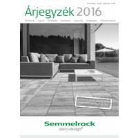Semmelrock 2016. évi árlista